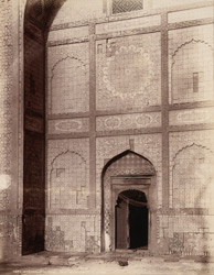 Khudabad near Dadu, Sindh. Yar Muhhamad's Tomb, portion of façade